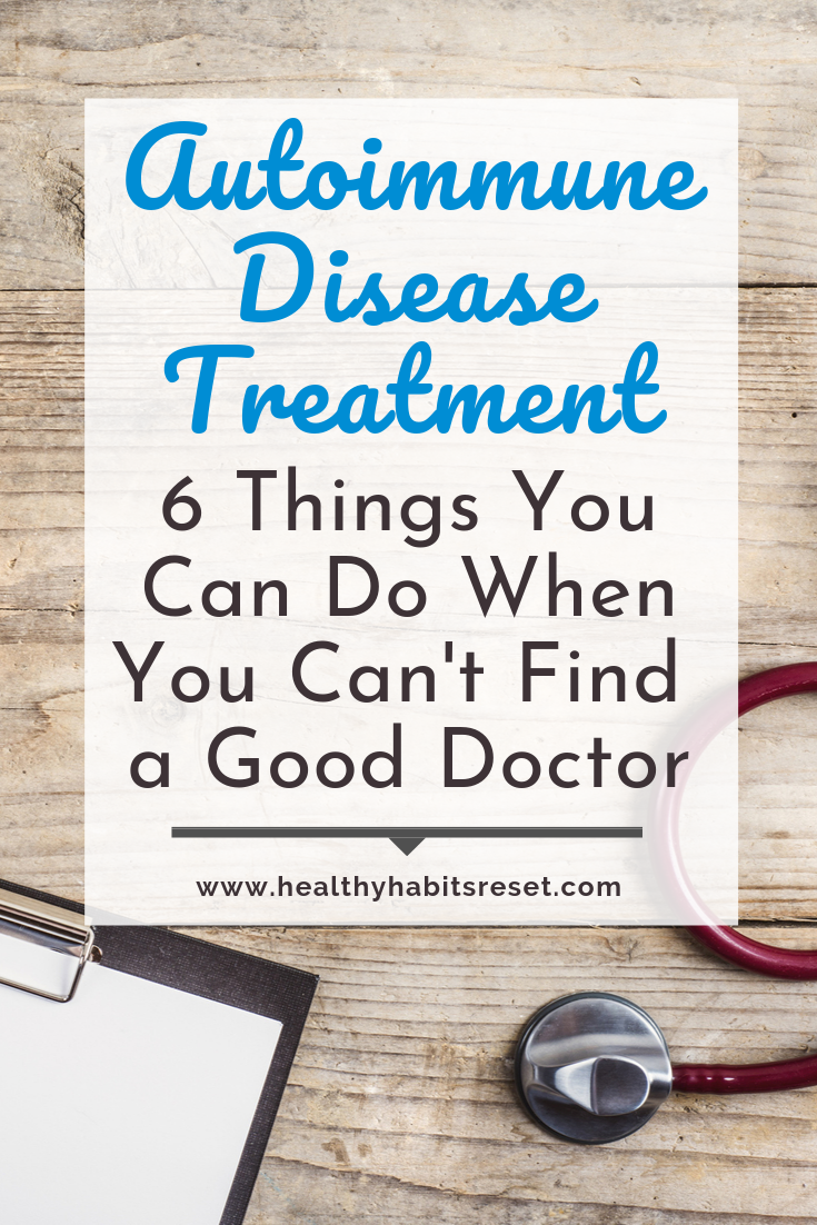 red stethoscope and clipboard with text overlay - Autoimmune Disease Treatment: 6 Things You Can Do When You Can't Find a Good Doctor