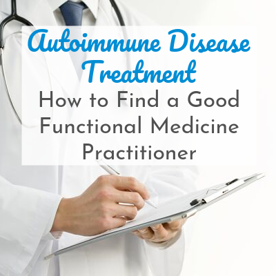 doctor writing on tablet with text overlay - Autoimmune Disease Treatment: How to Find a Good Functional Medicine Practitioner