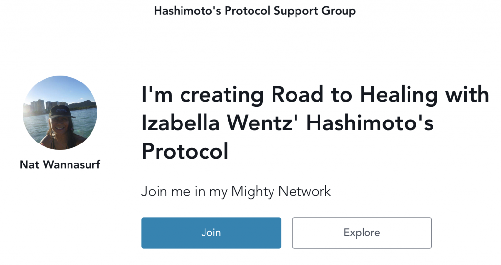 Hashimoto's Protocol Mighty Network page