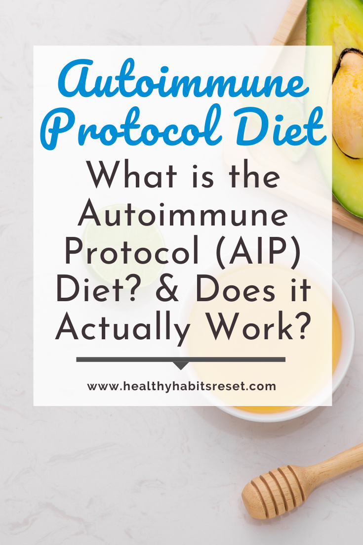 honey stick and avocado with text overlay - Autoimmune Protocol Diet: What is the Autoimmune Protocol (AIP) Diet? & Does it Actually Work?