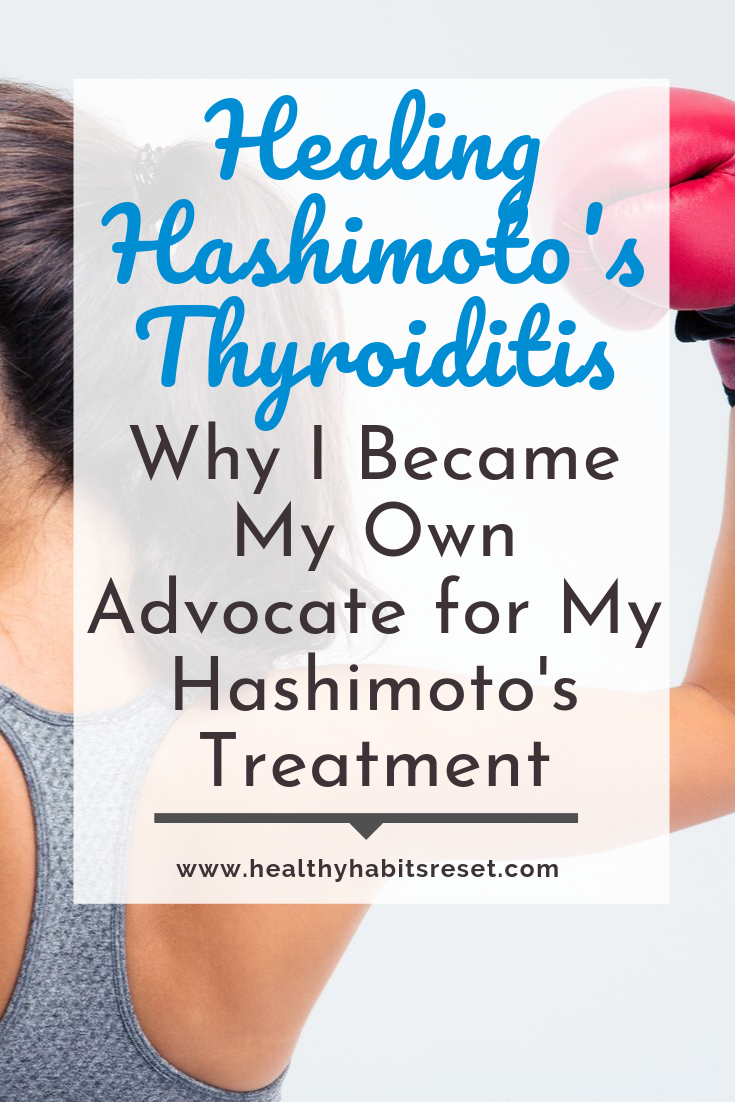 young woman with boxing glove with text overlay - Healing Hashimoto's Thyroiditis: Why I Became My Own Advocate for My Hashimoto's Treatment